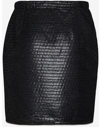 Yigal Azrouel Exclusive Tufted Zipper Detail Wrap Skirt - Lyst