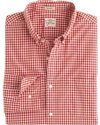 J.Crew Secret Wash Shirt In Red Gingham - Lyst