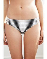 Forever 21 Strappy Stripe Print Bikini Bottoms - Lyst