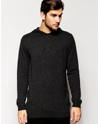 Asos Longline Knitted Lambswool Rich Hoodie - Lyst
