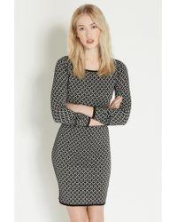 Oasis Geometric Sparkle Tube Dress - Lyst