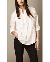 Burberry Check Cotton Tunic - Lyst