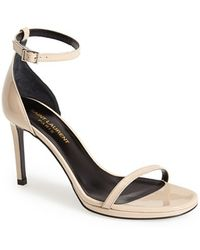 Saint Laurent 'Jane' Ankle Strap Sandal - Lyst