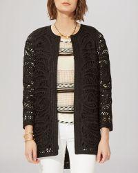 Maje Jacket - Crochet Open - Lyst