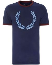 Fred Perry Laurel Weath Short Sleeve Pocket T Shirt - Lyst