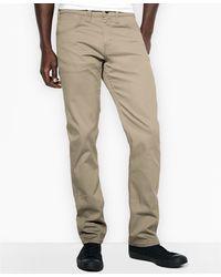 Levi's 513 Slim Straight Fit Sand Pants - Lyst