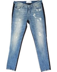 Iro Destroyed Rayley Contrast Jeans - Lyst