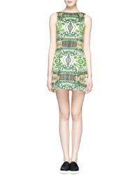 Alice + Olivia Carrie' Garden Print Bateau Neck Dress - Lyst