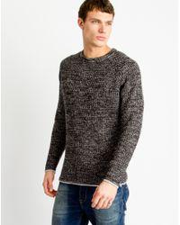Only & Sons | Mens Knitted Melange Pullover Black | Lyst
