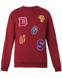 House Of Holland Embellishedletters Sweatshirt - Lyst