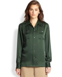 Ralph Lauren Blue Label | Silk Patsy Camp Shirt | Lyst