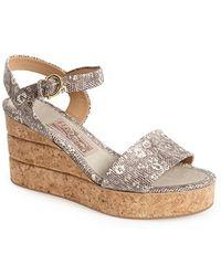 Ferragamo Madea Wedge Sandals - Lyst