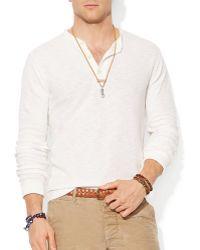 Ralph Lauren Polo Textured Cotton Henley - Lyst
