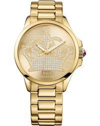 Juicy Couture Womens Jetsetter Goldtone Stainless Steel Bracelet Watch 38mm - Lyst