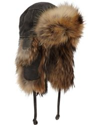 Crown Cap - Fur Lined Aviator - Lyst