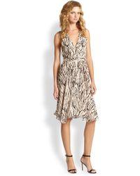 Haute Hippie Printed Silk Wrap Dress - Lyst
