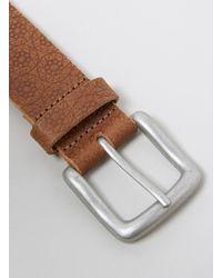 Topman Tan Leather Embossed Belt - Lyst