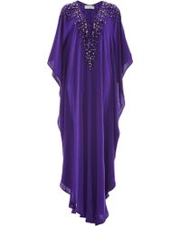 Amanda Wakeley - Purple Embellishment Caftan - Lyst