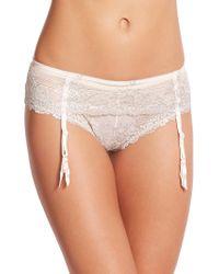 Wacoal Embrace Lace Garter Belt beige - Lyst
