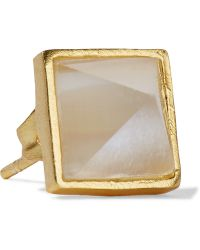 Kevia   Gold-plated Moonstone Earrings   Lyst