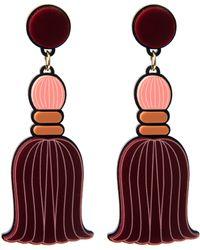 Yazbukey Pompom Tassel Earring - Lyst