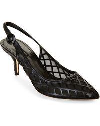 Dolce & Gabbana Lattice Slingback Heels - Lyst