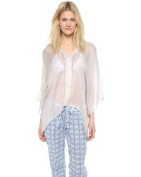 Love Quotes | Shiva Cover Up   Bisque | Lyst