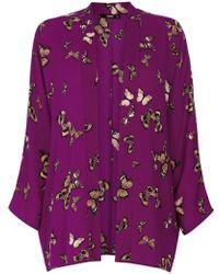 Oasis Purple Butterfly Kimono - Lyst