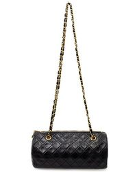 Chanel Pre-Owned Black Quilted Papillon - Lyst