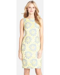 Chetta B Floral Lace Sheath Dress - Lyst