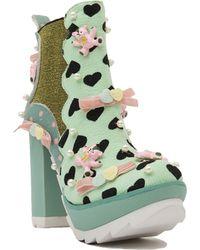 Irregular Choice - Kandy Kane Platform Boots - Lyst