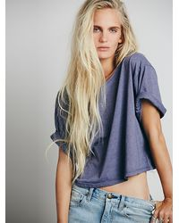 Free People We The Free Boxy Crop Tee - Lyst