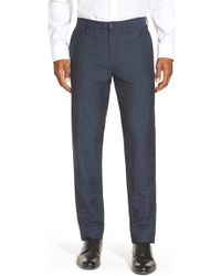 Burberry Brit | Slim Fit Linen & Cotton Trousers | Lyst