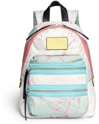 Marc By Marc Jacobs 'Domo Arigato Mini Packrat' Marble Print Backpack - Lyst
