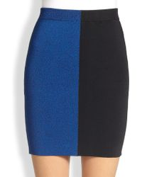 T By Alexander Wang Two-Tone Stretch Knit Mini Skirt - Lyst
