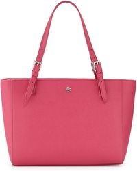 Tory Burch York Saffiano Leather Tote Bag - Lyst