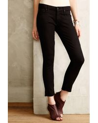 Mother Looker Cropped Skinny Jeans - Lyst