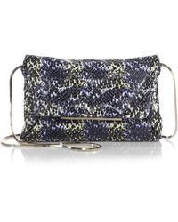 Lanvin Mai Tai Snake-Embossed Envelope Chain Bag - Lyst