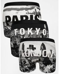 Asos 3 Pack Trunks With City Scape Print - Lyst