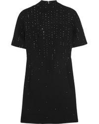 Christopher Kane Swarovski Crystal-embellished Wool-crepe Mini Dress - Lyst