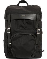 Saint Laurent Nylon Backpack - Lyst