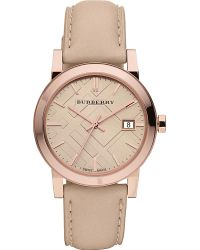 Burberry Rose Goldplated and Leather Strap Gold - Lyst