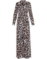 Diane von Furstenberg Amina Silk Dress animal - Lyst