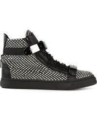 Giuseppe Zanotti London Tara Hitop Sneakers - Lyst