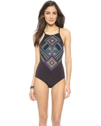 Nanette Lepore Carmenita One Piece Swimsuit - Black - Lyst