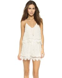 Liv - Kate Lace Romper - White - Lyst