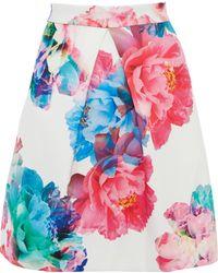 Coast Bloom Print Skirt - Lyst