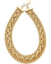 Adia Kibur Chain Layer Necklace Gold - Lyst