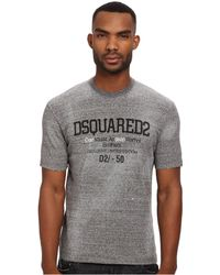 DSquared² Tight Fit Tee - Lyst