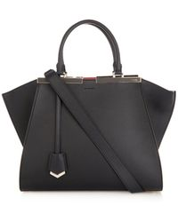 Fendi 3jours Trapeze Wing Small Leather Tote - Lyst